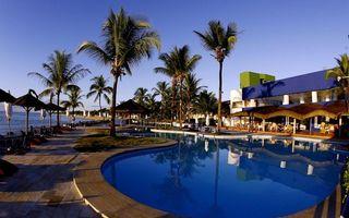 Фото бесплатно пальмы, бассейн, море