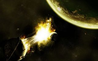 Заставки планеты, огонь, звезды, взрыв, ярко, красиво, космос