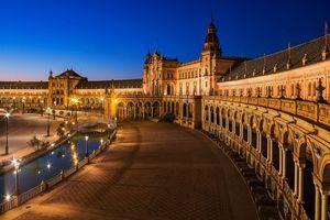 Бесплатные фото Площадь Испании,Plaza,расположен в парке Марии Луизы в Севилье,Испания