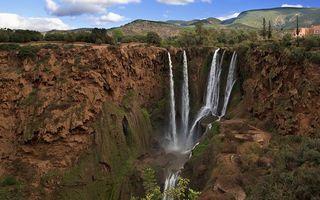 Фото бесплатно река, водопад, трава