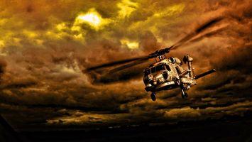 Фото бесплатно вертолет, лопасти, хвост
