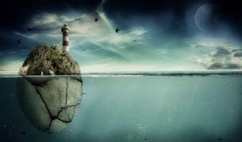 Заставки яйцо, птицы, вода, море, океан, маяка, планеты, трава, кусты, пейзажи, природа
