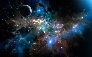 Бесплатные фото звёздная туманность,звёзды,вселенная,планета,космос