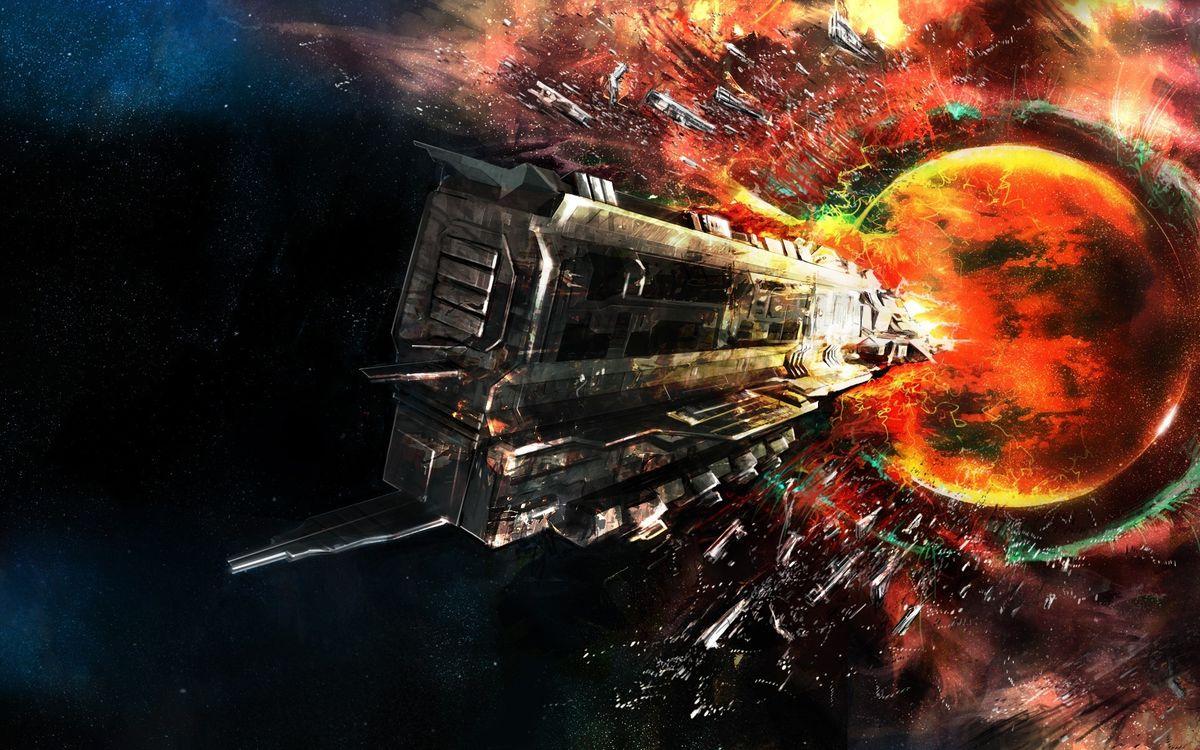 Фото бесплатно арт, космический корабль, космос - на рабочий стол
