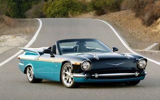 Заставки chevy, 789, голубой, черный, дорога, склон, колеса, фары, капот, машины