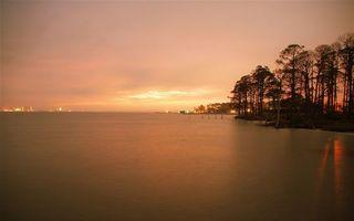 Заставки закат, залив, море