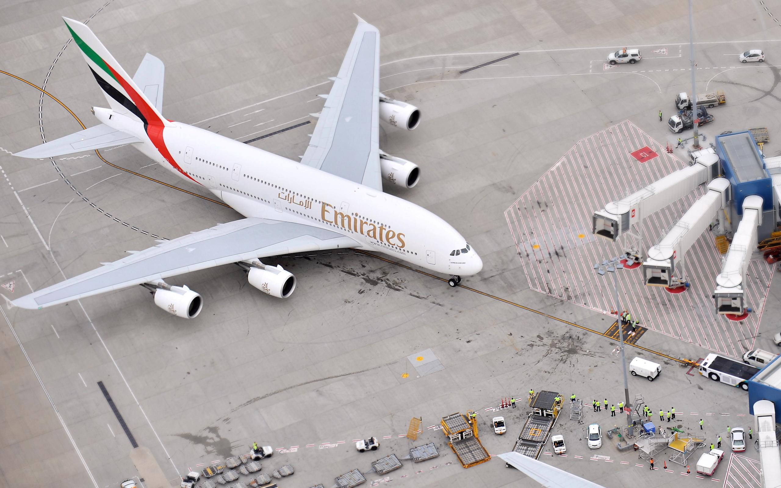 аэропорт, пассажирский, самолет