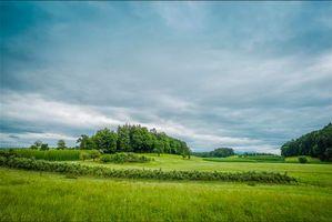 Обои Бавария, Германия, поля, холмы, деревья, пейзаж