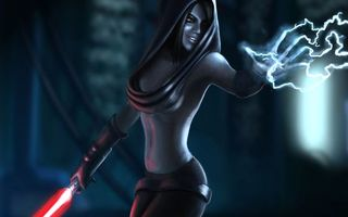 Заставки девушка, дар, сила, меч, огненный, костюм, гроза, энергия, аниме