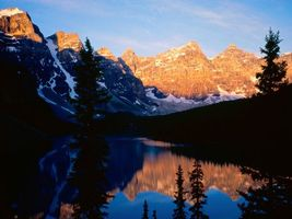 Бесплатные фото горы,снег,вода,деревья,лес,небо,природа