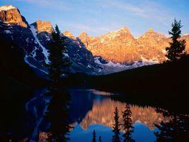 Photo free mountains, snow, water