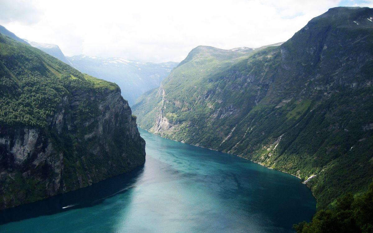 Фото бесплатно горы, вода, река, деревья, холмы, склоны, природа, природа - скачать на рабочий стол