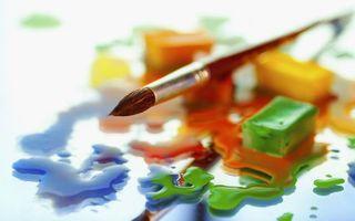 Бесплатные фото краска,гуашь,цвета,синий,зеленый,оранжевый,желтый