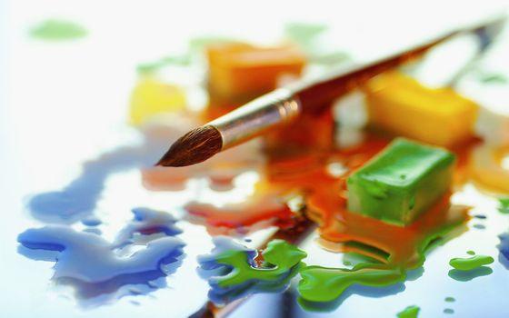 Фото бесплатно краска, гуашь, цвета