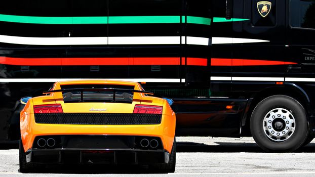 Фото бесплатно ламборджини галлардо, спорткар, тюнинг