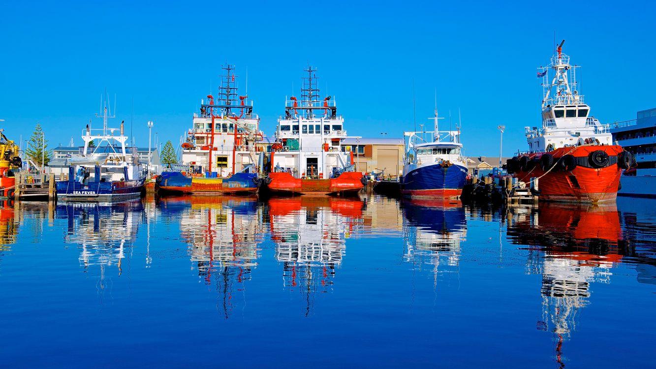 Фото бесплатно судно, баржа, отражения - на рабочий стол