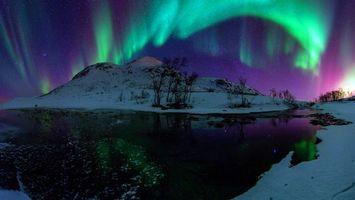 Бесплатные фото ночь,северное,сияние,природа