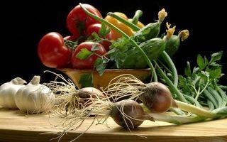 Фото бесплатно овощи, помидоры, огурцы