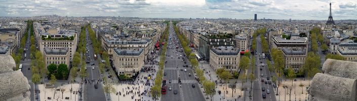Фото бесплатно Париж, Франция, панорама