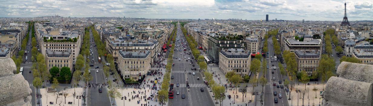 Картинка париж, панорама на телефон