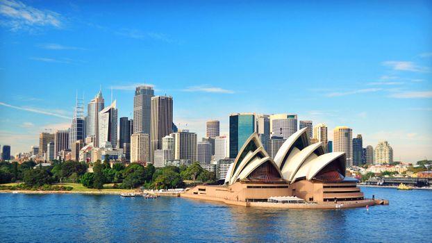 Заставки город, австралия, пейзаж