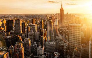 Фото бесплатно просыпайся, нью йорк, восход