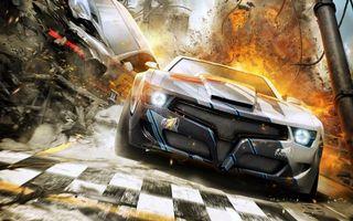Бесплатные фото split second,скоростной camaro,гонка,взрыв,игры