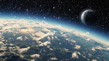 Бесплатные фото новые миры,планеты,жизнь,большая и малая,облака,кислород,воздух