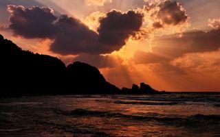 Фото бесплатно закат, море, солнце