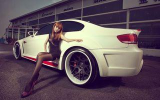 Заставки автомобиль,колеса,диски,шины,капот,цвет,белый