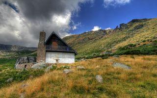 Бесплатные фото дом,труба,трава,поле,луг,небо,тучи