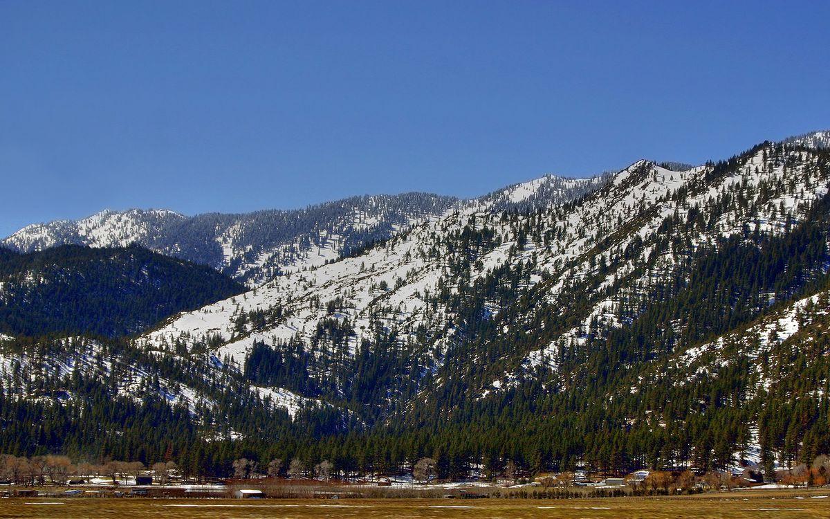 Фото бесплатно горы, снег, скалы - на рабочий стол