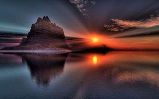 Заставки закат солнца, осень, море