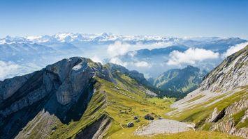 Фото бесплатно гора, трава, зеленая