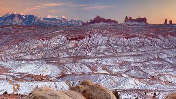 Бесплатные фото горы, камни, снег, небо, красный, цвет, природа