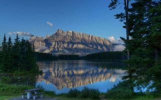 Заставки скалы, вода, горы