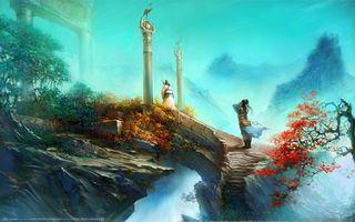 Бесплатные фото китай,император,скалы,горы,лестница,люди,деревья