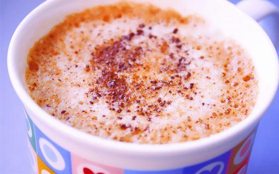 Photo free coffee, foam, glass