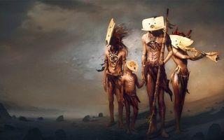 Бесплатные фото люди,семья,пещерные,индейцы,камни,пустыня,маски