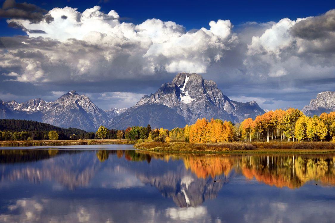 Фото бесплатно небо, голубое, тучи, облака, вода, море, океан, волны, деревья, лес, горы, снег, пейзажи, природа, природа
