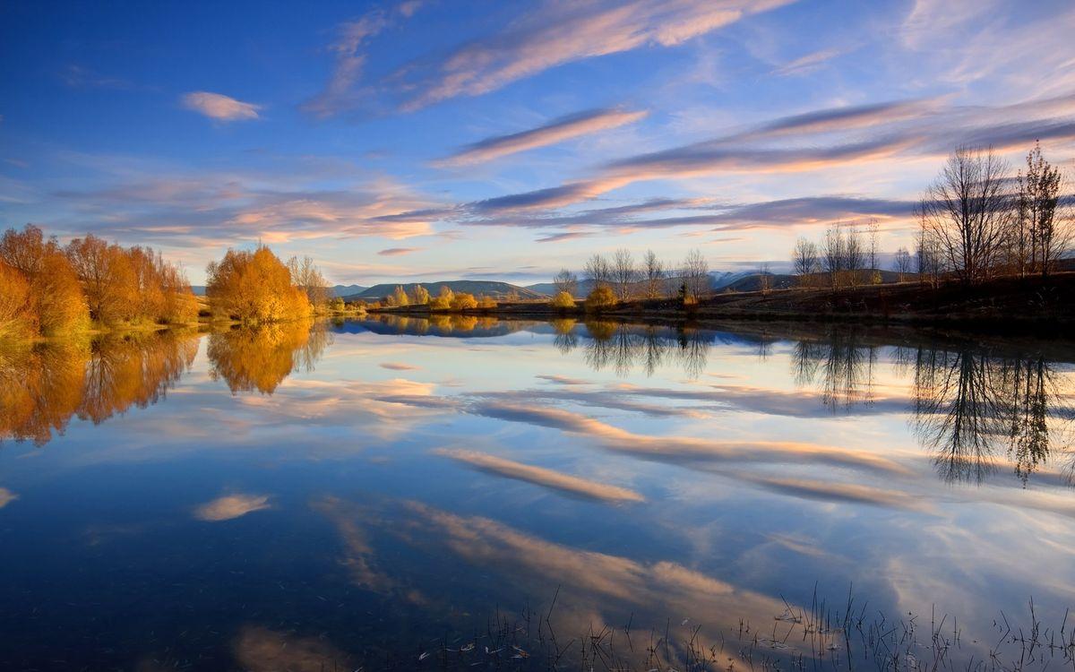 Фото бесплатно осень, река, отражение - на рабочий стол