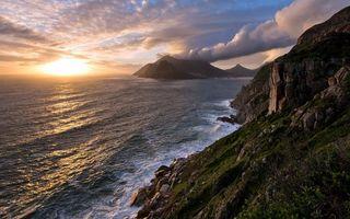 Бесплатные фото острова,океан,скалы,деревья,закат,солнца,небо