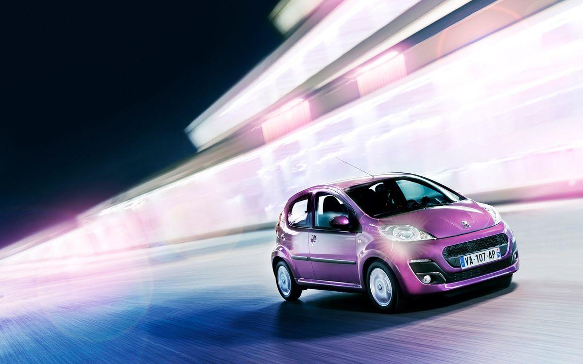 Обои пежо, розовый, фары, решетка, дорога, скорость, машины на телефон | картинки машины