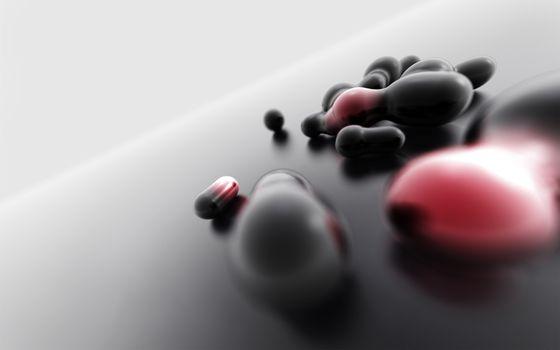 Бесплатные фото пилюли,фон,серый,графика,молекулы,ядра,капли,заставка,обои,3d графика