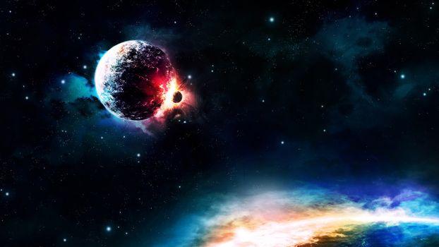Фото бесплатно планеты, млечный путь, звезды