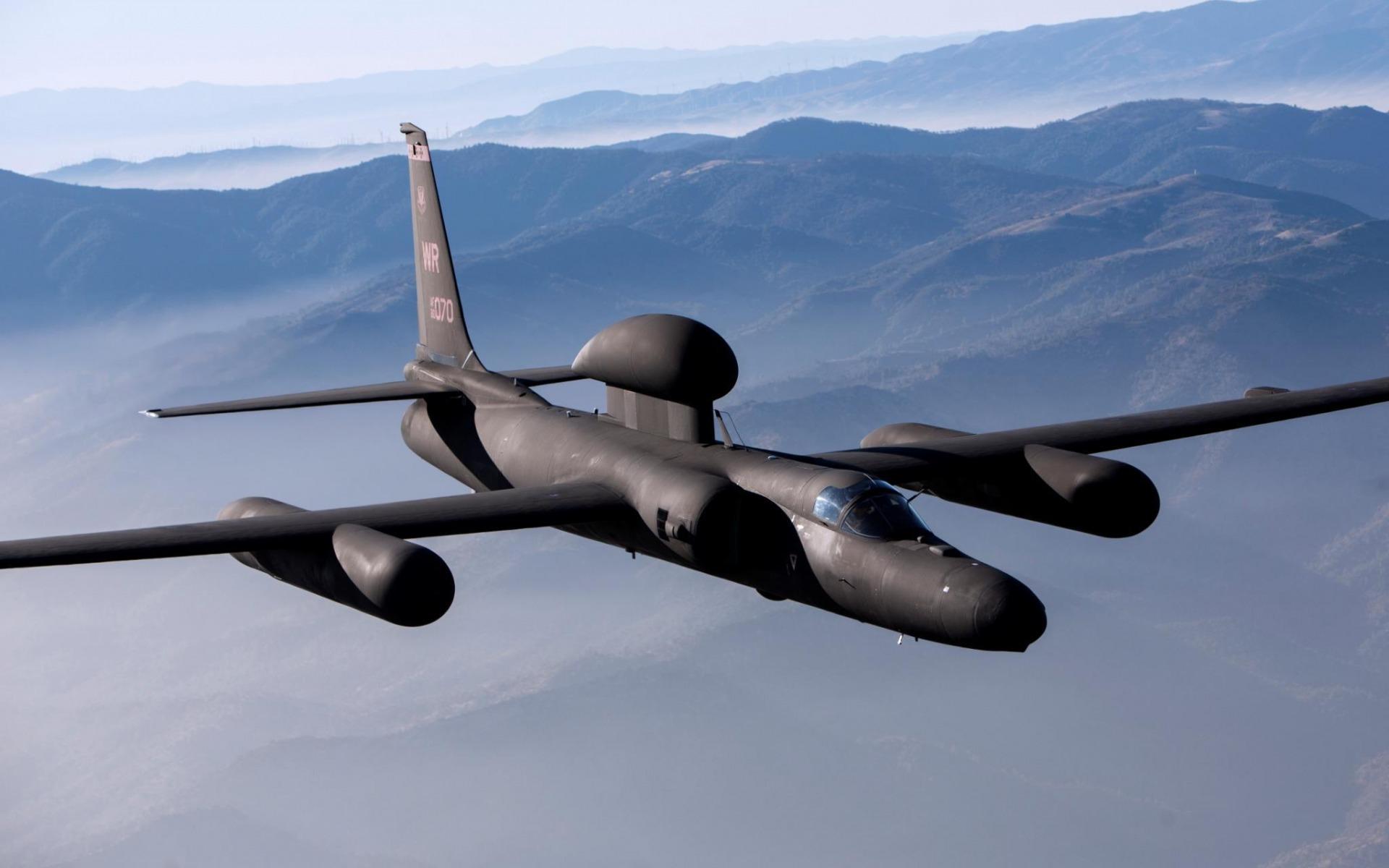 самолет-разведчик, черный, гриб