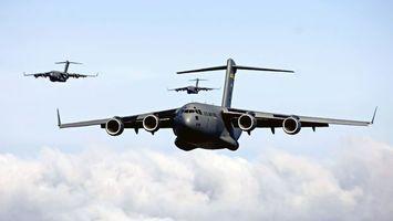 Фото бесплатно самолеты, серые, крылья