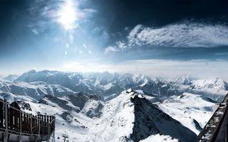 Фото бесплатно снег, горы, скалы