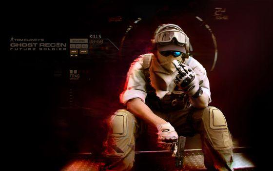 Photo free soldier, weapon, gun