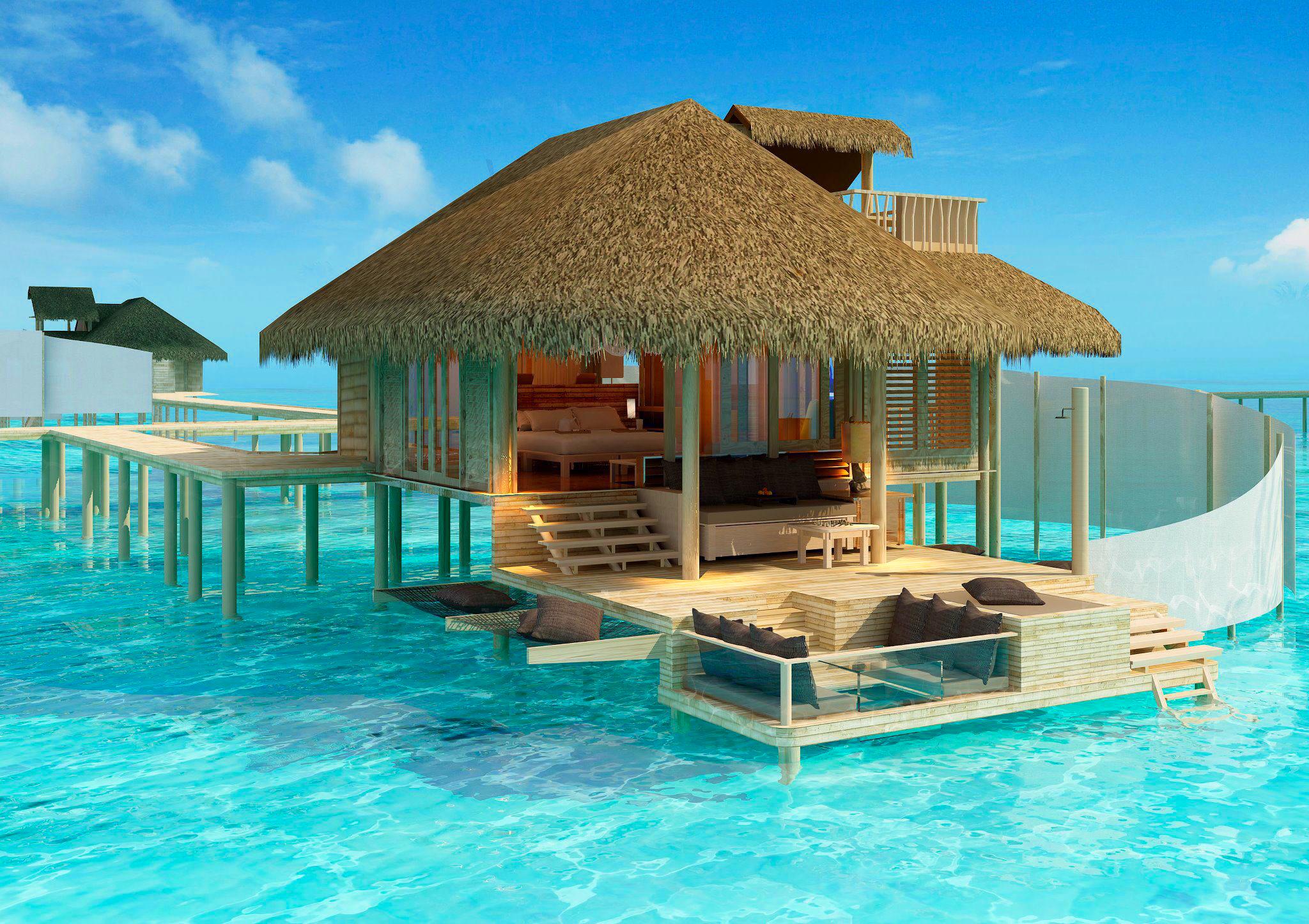 Мальдивы номера отеля отдых The Maldives the rooms the rest  № 334023 бесплатно